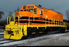 RailPictures.Net Photo: NECR 3405 New England Central EMD SD40-2 at St. Albans, Vermont by Kevin Burkholder