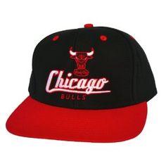 bb5aee50f26 CHICAGO BULLS Retro Old School Script Snapback Hat - NBA Cap - 2 Tone  Black Red - LIMITED EDITION