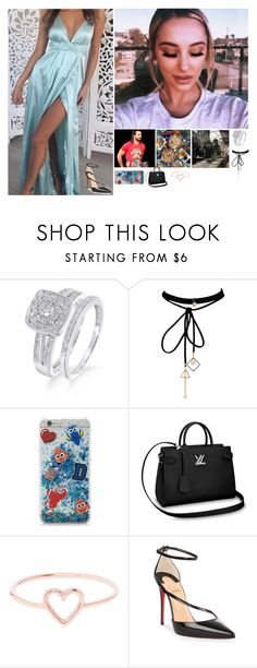 """""""💕Stass 💕-""""A Day Doesn't Go By Where I'm Not Grateful For You"""""""" by banks-on-it ❤ liked on Polyvore featuring WithChic, Forever 21, Love Is and Christian Louboutin"""