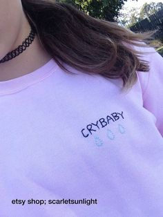 CRYBABY WITH TEARS Aesthetic Pink Crewneck Sweatshirt (Made To Order)