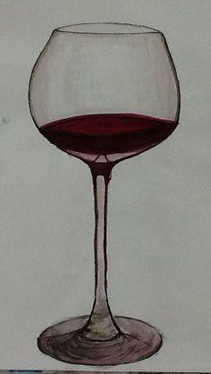 Wine glass - Drawing