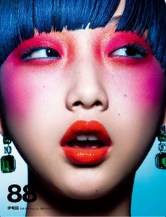 INGRIDA GRIGALYTE BEAUTY inspirations: lips, eyes, skin, colors, face, hair, nails, makeup, skin. Yue Ning by Shao Jia for Numero China January 2013