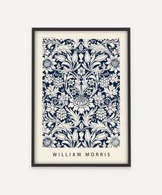 William Morris Wallpaper, William Morris Art, Morris Wallpapers, Love Wall Art, Wall Art Prints, Framed Prints, William Morris Patterns, Bathroom Artwork, Vintage Words