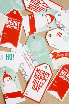 printable gift tags-design and print my own this year? Hmmm