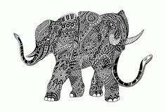 #Snakelephant #Indian_Ink #Hand_Draw Art #Print - by #BluedarkArt - NEW on #Redbubble  Available as T-Shirts & Hoodies, Stickers, iPhone Cases, Samsung Galaxy Cases, Posters, Home Decors, Tote Bags, Prints, Cards, Kids Clothes, and iPad Cases
