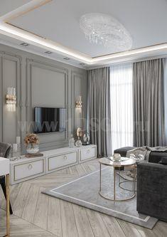 Living Room Tv Unit Designs, Living Room Sofa Design, Home Room Design, Home Interior Design, Classic Living Room, Elegant Living Room, House Ceiling Design, House Design, Flur Design