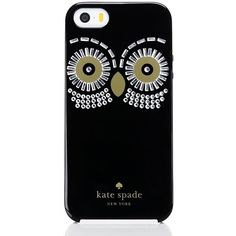 Kate Spade Embellished Owl Iphone 5 Case ($45) ❤ liked on Polyvore featuring accessories, tech accessories and kate spade