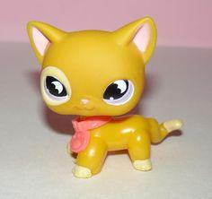 Littlest Pet Shop LPS 855 RARE Bright Yellow Orange Kitty Cat Halloween | eBay
