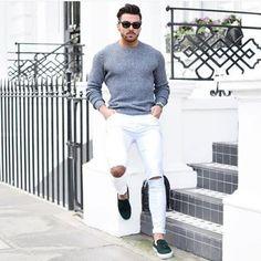 Calça destroyed mais detonada só cabe em um look mais casual| @moda.homem | #modamasculina #modahomem #men #mens #menstyle #streetstyle #streetfashion #fashionstyle #fashionmen