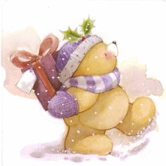 les meli melo de mamietitine - Page 109 Christmas Clipart, Christmas Art, Xmas, Hello Kitty Christmas, Teddy Bear Pictures, Baby Painting, Tole Painting, Hallmark Cards, Tatty Teddy