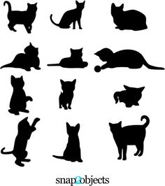 Just download these from the web, and beware of the black cat that you may cross it's path on Fridays.  silhouettesbycindi.com