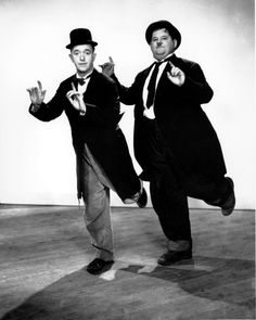 Laurel & Hardy in a graceful moment.