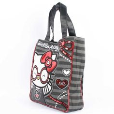 381eb034a596 Loungefly - Hello Kitty Red Round Glasses Tote Bag