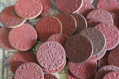 4 Vintage WWII Ration Tokens by CaityAshBadashery on Etsy, $3.95