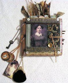 vintage altered paper bag book cover by molly jean hobbit, via Flickr
