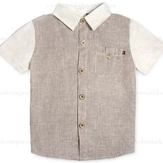 Fore!! Axel & Hudson Linen Houndstooth Shirt: Designer Kids Clothes | Shop our Boutique for Cool Children's Clothing