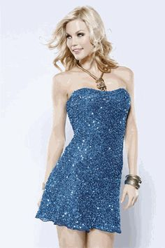 Scala midnight blue sequin dress