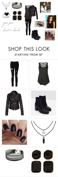 """""""Give Your Heart a Break by Demi Lovato"""" by ocean-goddess ❤ liked on Polyvore featuring Miss Selfridge, Pilot, Barbour International, Zara, Charriol, Kenneth Jay Lane and Kevin Jewelers"""