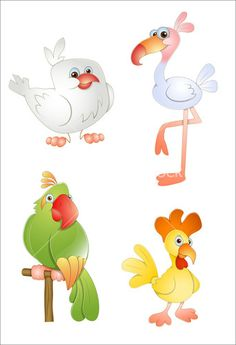 Cartoon Vector Birds