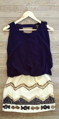 Open Back Chevron Dress ♥