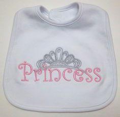 Princess Bib by cranberryridgedesign on Etsy, $15.95