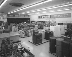 1968 k-mart interior..just as I remember it in Pekin Illinois..  I bought my quad system  phonograph with 8-track  there in the early 1970's.........what happened to you Kmart?????