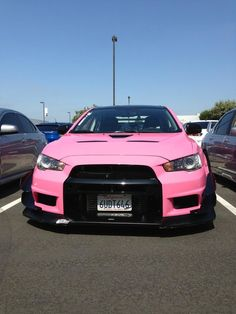 Twitter / GirlsDriveFast2: Don't see pink Evo Xs everyday, Mitsubishi Owner's Day 7/13/13 Photo by TONI AVERY