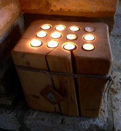 Tea Lights, Candles, Wood, Diy, Woodwind Instrument, Bricolage, Tea Light Candles, Timber Wood, Candy