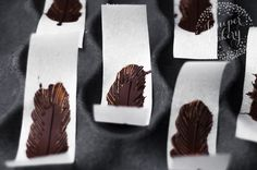 Learn how to make chocolate feather dessert garnishes