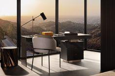 "Carson ""Writing desk"", Rodolfo Dordoni design. #minotti #furniture #carson #writingdesk #2017collection #madeinitaly #homedecor #interiordesign"