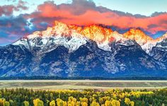 Teton Range Mountain in Wyoming