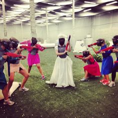 We loved this idea and had a blast for my sisters bachelorette party! #paintball #bachelorette