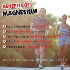 Benefits of magnesium...zorg dat je voldoende binnen krijgt!  #lucovitaal…