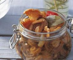 Receta de conserva de setas en vinagre