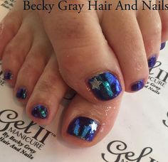 #gelii #manicure #pedicure shark bite #magpiebeauty #magpieglitter cindy #showscratch #tcbg #nails