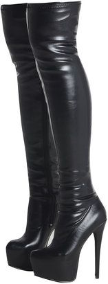 ShopStyle by POPSUGAR: AX ParisPU Over The Knee Platform Boot