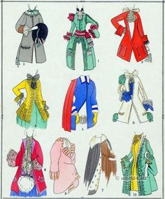 Coats Fashion under Louis XIV. French costume history 1643-1715.