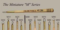 M Series Mini Sculpting Tools M10  Dolan miniature tools
