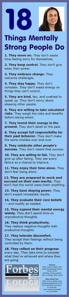 Im not perfect in all of these, but I know plenty of people who really need to study this.  18 things mentally strong people do