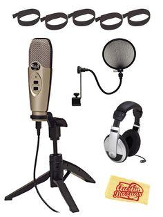 CAD U37 USB Studio Recording Microphone Deluxe Bundle