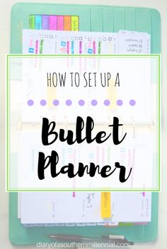 How to set up a bullet planner. Did the bullet journal not work for you? Try a bullet planner! Quicker and easier than a journal, here is how I set mine up. Organization Bullet Journal, Bullet Journal Hacks, Bullet Journal Layout, Bullet Journal Inspiration, Bullet Journals, Journal Ideas, Organization Ideas, Planners, Journal Template