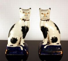Staffordshire Pottery Cats: Carters.com.au