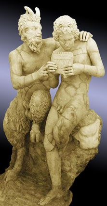 Pan and Daphnis; 2nd c. CE. Marble, Roman copy of 2nd century BCE Greek original; Archeological Museum, Naples