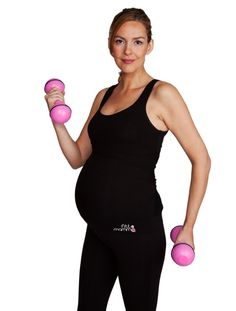 d81008b96ce93 FittaMamma High Support Top in Jet Black. Maternity workout clothes for  running during pregnancy and