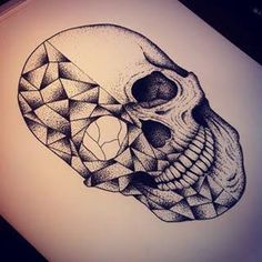 Resultado de imagem para geometric skull