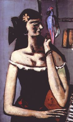 Max Beckmann, Woman with Parrot, 1946