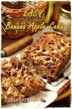 Cake Pisang Apel no Mixer sangat sangat lembut!