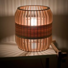 Another Lath Lamp