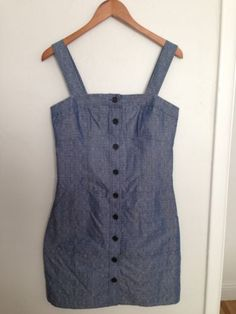 Nwt $70 Derek Lam Design Nation Chic Chambray Jumper Dress Size 6 Denim Organic
