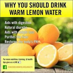 The First thing I Drink EVERY morning to SPEED up my Metabolism is to Squeeze the juice of a half Whole Lemon (Large) in a cup of warm to hot water and Drink it Down! IT WORKS! For Your Health, Health And Wellness, Health Tips, Get Healthy, Healthy Life, Healthy Living, Fitness Nutrition, Diet And Nutrition, Fitness Facts